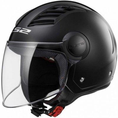 Открытый шлем LS2 OF562 AIRFLOW LONG MATT BLACK