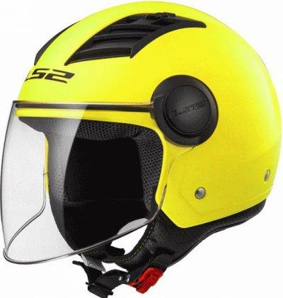 Открытый шлем LS2 OF562 AIRFLOW SOLID MATT HI-VIS YELLOW