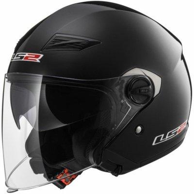 Открытый шлем LS2 OF569 Track Black Gloss