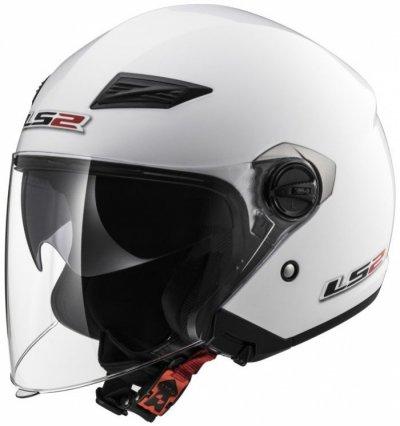 Открытый шлем LS2 OF569 Track White Gloss