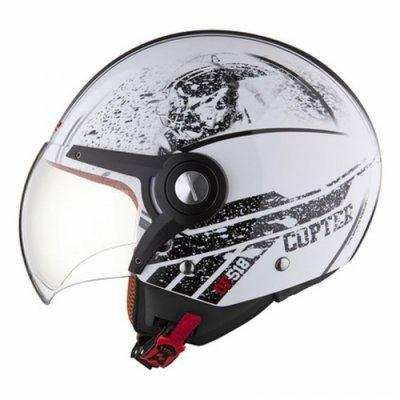 Открытый шлем LS2 OF518 Copter White Gloss