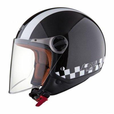 Открытый шлем LS2 OF560 Bat Black Gloss
