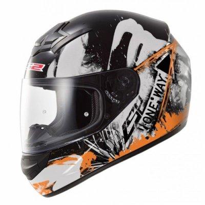 Шлем LS2 FF352 Rookie One Black-Orange Fluo