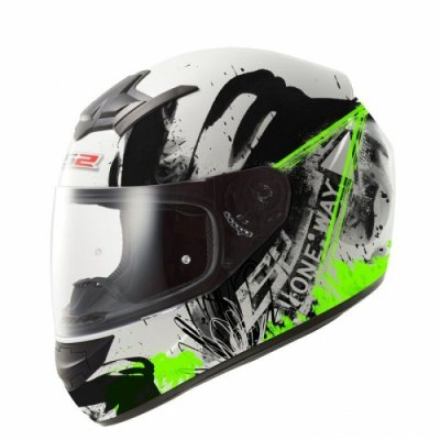 Шлем LS2 FF352 Rookie One White-Green Fluo