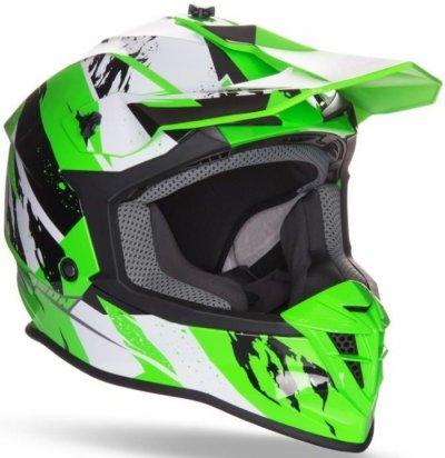 Шолом GEON 633 MX Fox Крос Black / Neon Green
