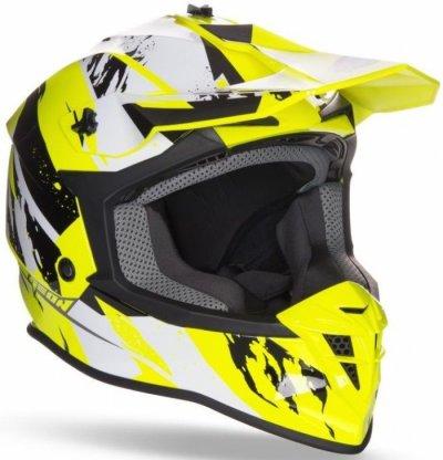 Шолом GEON 633 MX Fox Крос Black / Neon Yellow