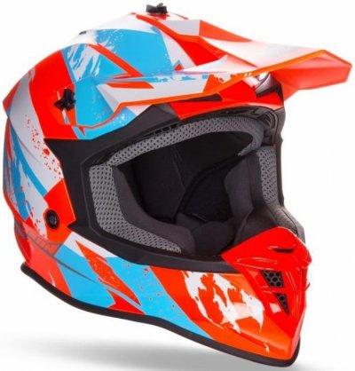 Шолом GEON 633 MX Fox Крос Blue / Neon Orange