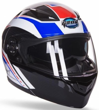 Шлем GEON 950 Adventure Модуляр с очками Blue/Black