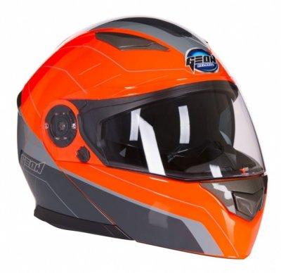 Шлем GEON 950 Модуляр с очками TOUR GREY/ORANGE