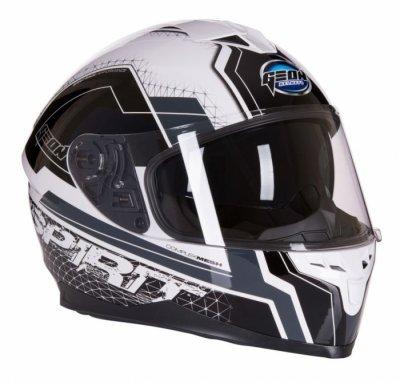 Шлем GEON 967 Интеграл с очками SPIRIT BLACK/WHITE