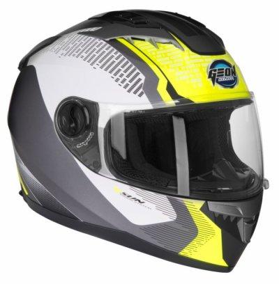 Шлем GEON 968 NEW Интеграл Stealth White/Yellow