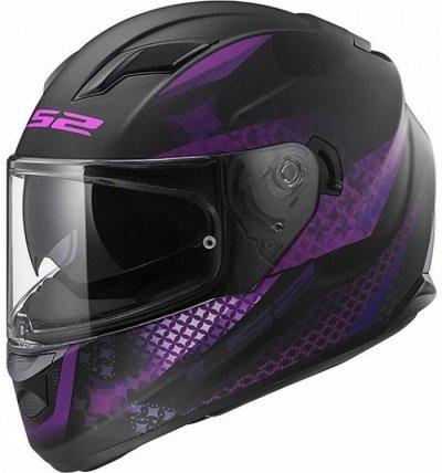 Шлем LS2 FF320 STREAM EVO LUX VIOLET BLACK MATT