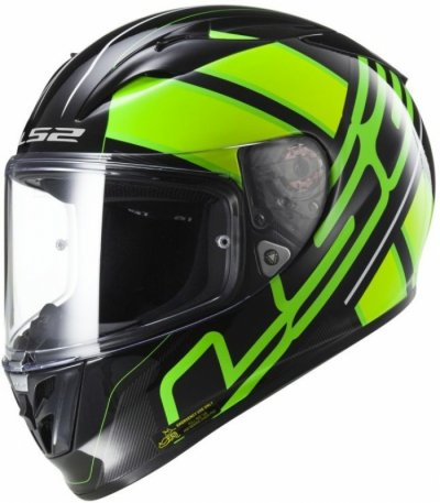 Шлем LS2 FF323 ARROW R EVO ION BLACK FLUO GREEN