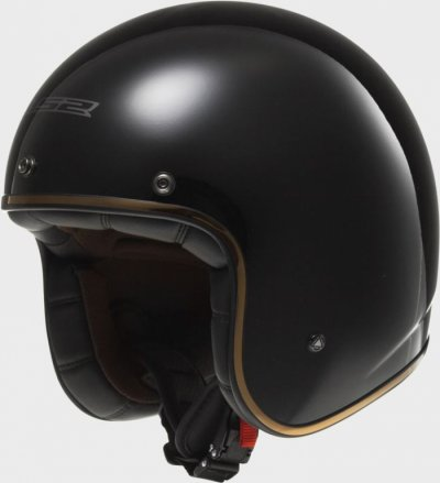 Открытый шлем LS2 OF583 Bobber Black Gloss