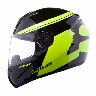 Шлем LS2 FF351 Fluo Black Hi-Vis Yellow