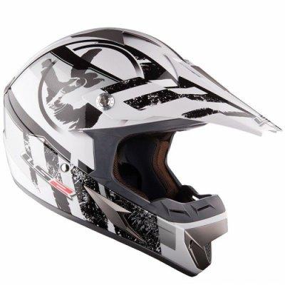 Кроссовый шлем LS2 MX433 Stripe White Black Gloss