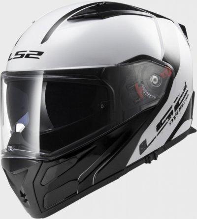Шлем модуляр LS2 FF324 METRO RAPID WHITE-BLACK