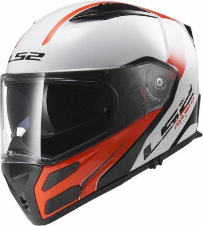 Шлем модуляр  LS2 FF324 METRO RAPID WHITE RED