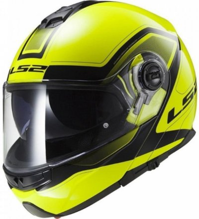 Шлем модуляр LS2 FF325 STROBE CIVIK HI-VIS YELLOW BLACK
