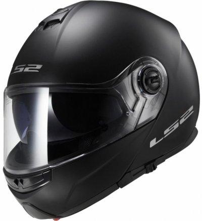 Шлем модуляр LS2 FF325 STROBE MATT BLACK