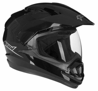 Шлем мотард GEON 714 Дуал-спорт Trek Black