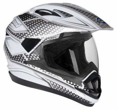 Шлем мотард GEON 714 Дуал-спорт Trek White/Black