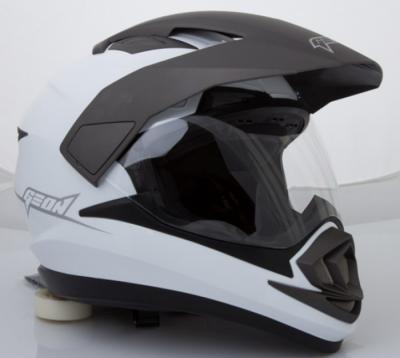 Шлем мотард GEON 714 Дуал-спорт Trek White