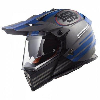 Шолом мотард LS2 MX436 PIONEER QUARTERBACK BLUE