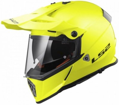 Шлем мотард LS2 MX436 PIONEER SOLID HI-VIS YELLOW