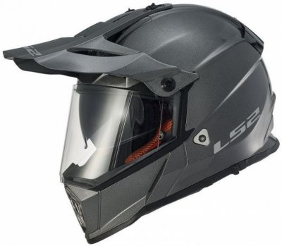 Шлем мотард LS2 MX436 PIONEER SOLID TITANIUM MATT