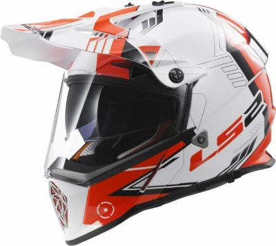 Шлем мотард LS2 MX436 PIONEER TRIGGER BLACK WHITE RED