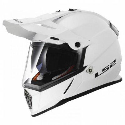Шлем мотард LS2 MX436 PIONEER WHITE