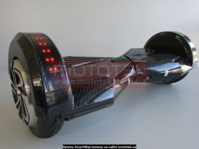 Гіроскутер SMARTWAY LAMBO LED + BT MUSIC 8 carbon