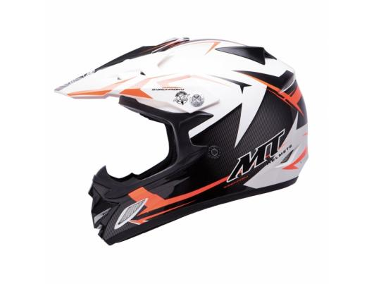 MT Helmets MX2 Synhrony Steel white/orange