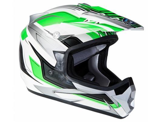 Шолом GEON 623 Крос Vector білий-зелений