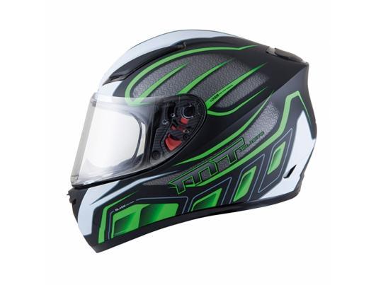 MT Helmets BLADE SV Alpha gloss black / white / fluor green