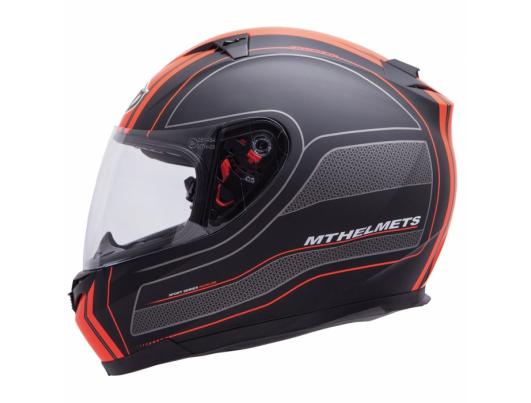 MT Helmets BLADE SV Raceline matt black/orange