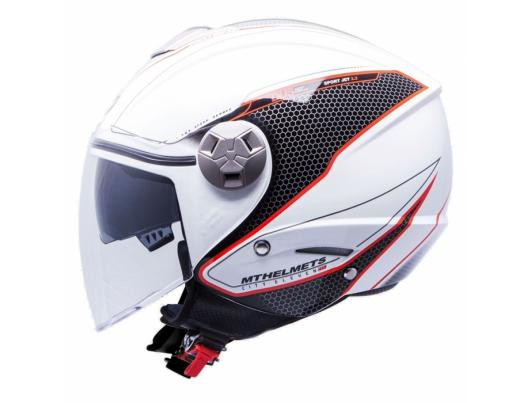 MT Helmets City Eleven Dynamic white/red