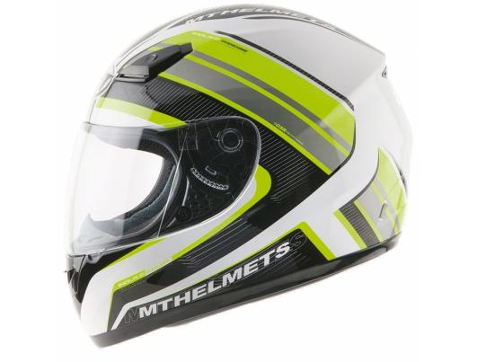 MT Helmets Imola 2 Overcome matt white/fluor yellow