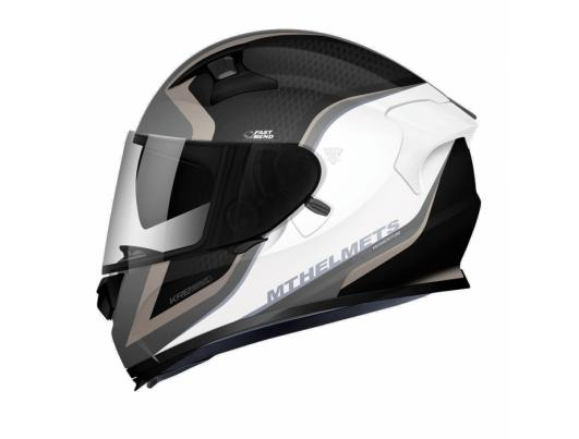 MT Helmets KRE SV MOMENTUM gloss black/white/gold