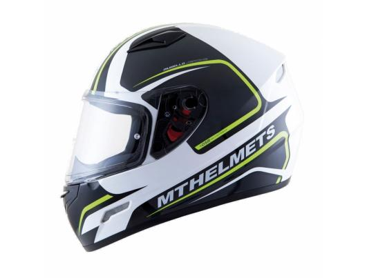 MT Helmets MUGELLO Jerome gloss white/anthracite/yellow