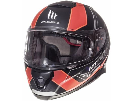 MT Helmets Thunder 3 Trace Matt Black Fluor Orange