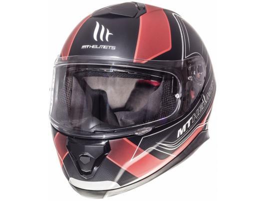 MT Helmets Thunder 3 Trace Matt Black Red