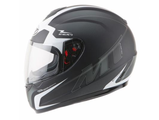 MT Helmets Thunder Squad matt black/white