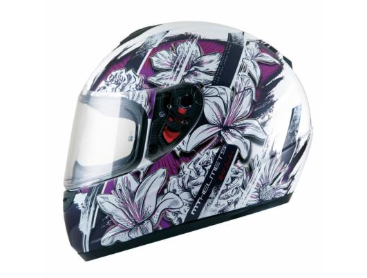 MT Helmets Thunder Wild Garden gloss pearl white/purple