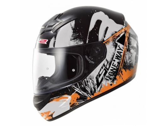 Шлем LS2 FF352 Rookie One Black-Orange Fluo