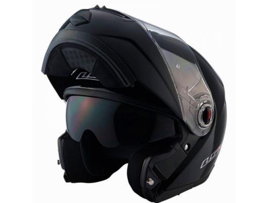 Шолом модуляр LS2 FF386 Ride Solid Black Gloss
