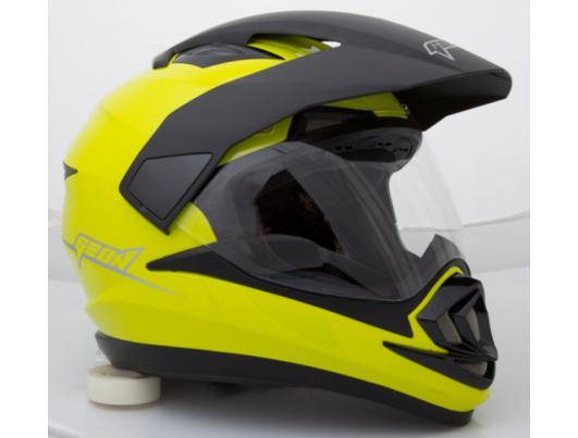 Шолом мотард GEON 714 Дуал-спорт Trek Neon Lemon